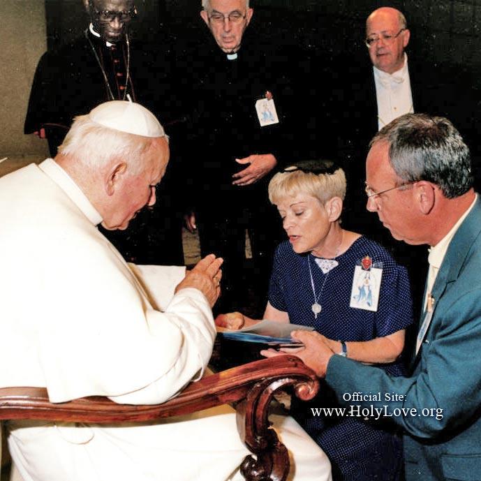 Maureen Sweeney-Kyle con Giovanni Paolo II - Santo Amore - Holy Love